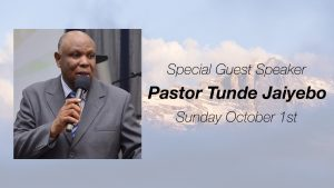 Guest Speaker - Tunde Jaiyebo @ Word of Grace Church | Chesterland | Ohio | United States